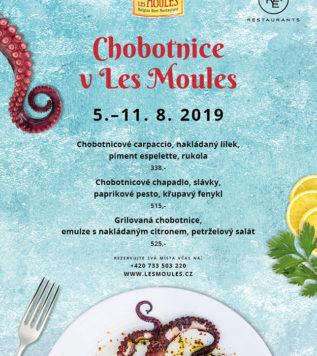Chobotnice v Les Moules